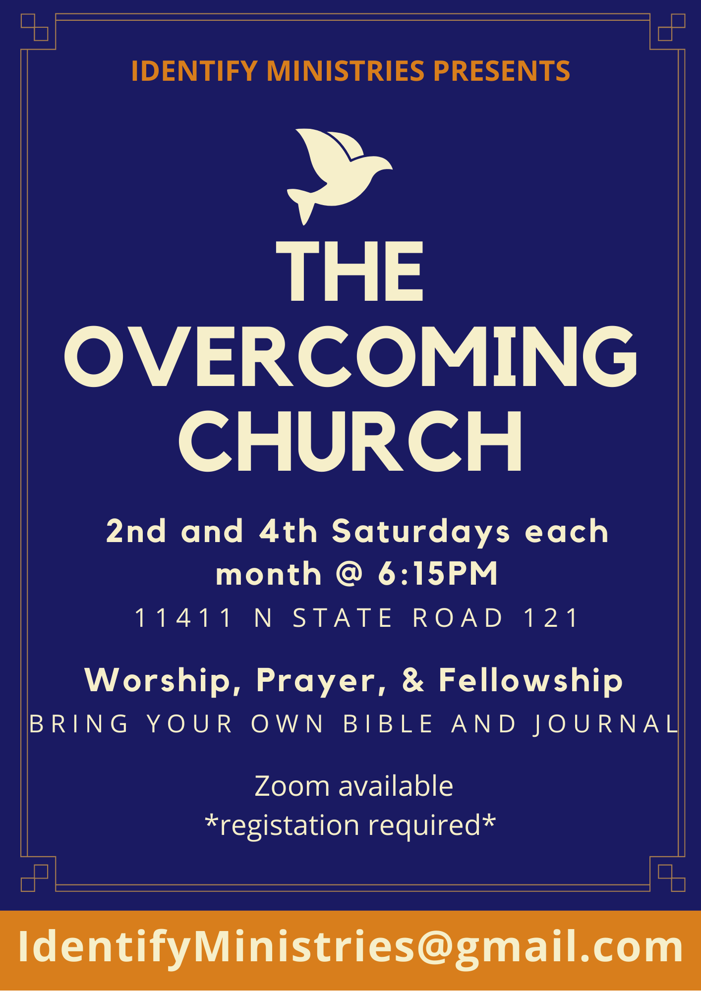 The Overcoming Church Flyer
